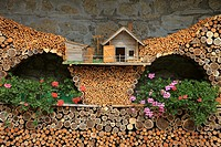 Wood, Sauris city, Friuli, Carnia district, Italy
