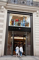 Tommy Hilfiger Shop on Champs-Elysees, Paris, France