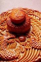 a top view of a mooncake
