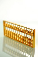a close view of golden abacus