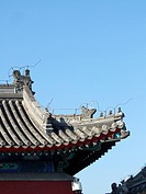 the Chinese classical building roof