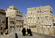 sanaa yemen old town traditional architecture