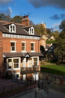 Restored former Hotel on Waterside Knaresborough North Yorkshire England