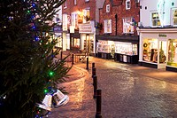 Market Place at Christmas Knaresborough Yorkshire England