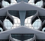 This photograph represent a modern city building from 21st century