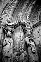 Detail of main front of church, Segovia, Castilla-Leon, Spain