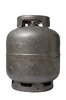 Gas canister, kitchen, S&#227;o Paulo, Brazil