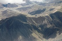 aerial photography of Tibet