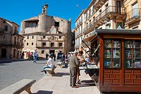 Kiosk at España Square. Sepulveda, Segovia province, Castilla Leon, Spain.