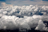 Aerial photography of the clouds on the sky of Tibet
