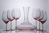Wine glasses and decantor