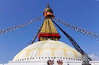 Buddhist stupa at Bodhnath, Kathmandu, Nepal