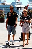 Vitaly Petrov, Oksana Kosachenko, Formula One, European Grand Prix, Valencia, Spain