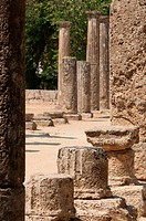 Ancient columns at Olympia, Greece  Birthplace of the Olympics