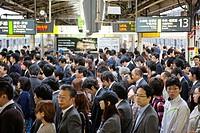 Japan, Tokyo, Shinjuku, Shinjuku Station, Rush Hour Commuters