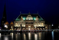 Town hall at night, Bremen, Gemany