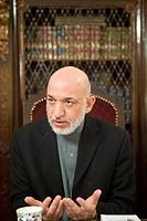 Hamid Karzai, president of Afghanistan since 2002