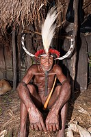 Warrior of Dani Tribe, Baliem Valley, West Papua, Indonesia