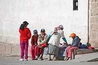 Local people in the mining town of San Antonio de los Cobres in Salta Province, Argentina