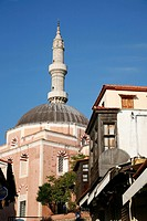 The Suleyman Cami Mosque at Rhodes old Town, Rhodes, Greece