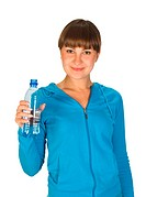 Young girl with bottle of water