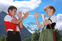 Canton Bern, Bernese Oberland, Switzerland, Europe, culture, tradition, folklore, national costumes, national costumes, national costume party, Appenz...