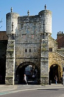 England, North Yorkshire, York. Bootham Bar on the site of porta principalis dextra, the north western gate of Eboracum.