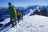 Mountain, mountains, glaciers, ice, sport, spare time, leisure, adventure, walking, hiking, trekking, canton Bern, Bernese Alps, Switzerland, Europe, ...