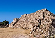 Mexico, Oaxaca, Monte Alban, pre_Columbian archaeological site, built 600 BC by the Zapotecs