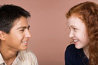 Portrait of teenage girl and boy 16_17