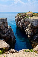 Rock coastline at Croatia