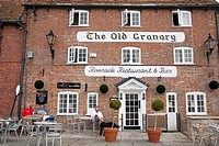The Old Granary Riverside Restaurant and Bar, Wareham, Dorset, England, UK