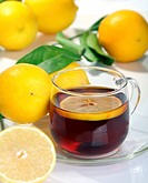 Tea with lemon.