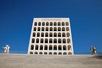 Palazzo della Civiltà Italiana, or square Colosseum, EUR district, Rome, Lazio, Italy, Europe