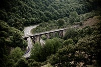 Las Fuentes railway bridge  Asturias  Spain  Europe
