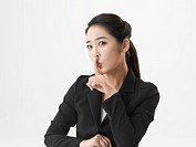 Half_lengh View of young Business woman