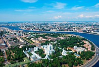 Birdseye view of Saint Petersburg