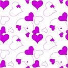 heart purple pattern
