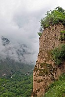 close_up of cliff of mountain, Danba, Garze Tibetan Autonomous Prefecture, Sichuan, China, Asia