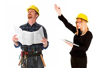 construction worker and architect