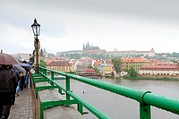 Charles Bridge and Vltava river, Prague, Czech Republic, Europe