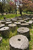 column drums at ancient Olympia, Peloponnese, Greece