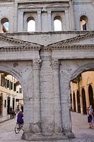 Porta Borsari, Roman gate in Verona, Italy