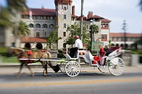 Horse and carriage ride, St Augustine, Florida, USA