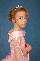 Little girl in fashionable dress