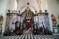 GRILL AND ORGAN OF THE BAROQUE CHURCH, THE 18TH CENTURY CISTERCIAN ABBEY, VALLOIRES, SOMME 80, FRANCE