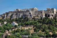 View of the Acropolis from the Ancient Agora in Athens, Greece
