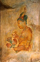 5th Maidens fresco, Sigiriya Lion´s rock fortress, Sri Lanka
