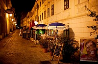 Restaurant at night, ´Boheme´ at Burggasse