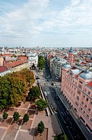 View over Vienna from Haus des Meeres, Austria